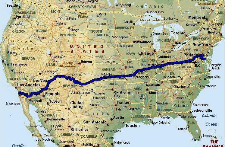 Map Of America By Race.Race Across America Map Bert S Big Adventure
