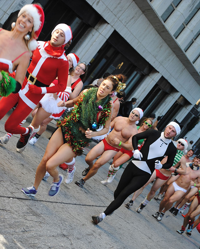 The Atlanta Santa Speedo Run