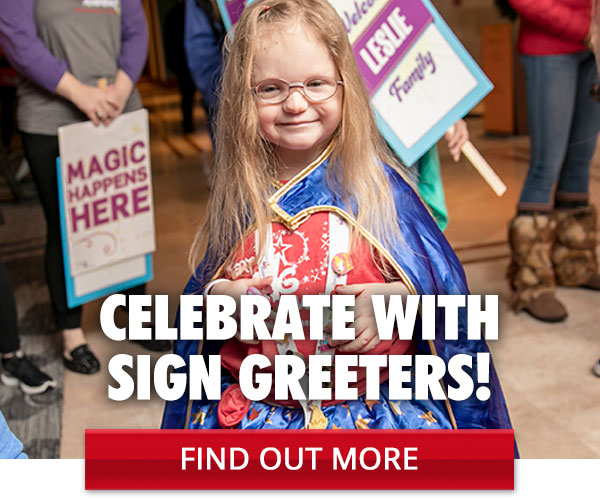 Celebrate with Sign Greeters!