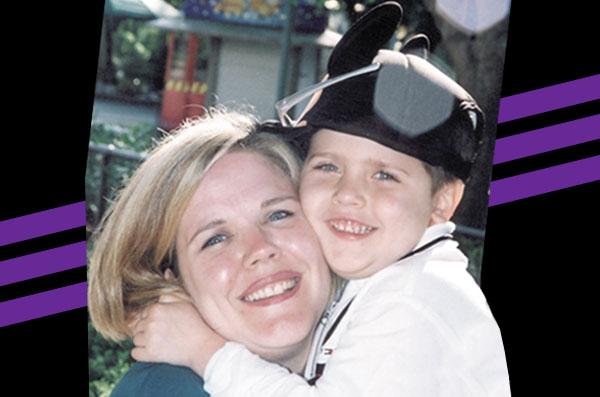 Charlie & Mom on Bert's Big Adventure in 2002